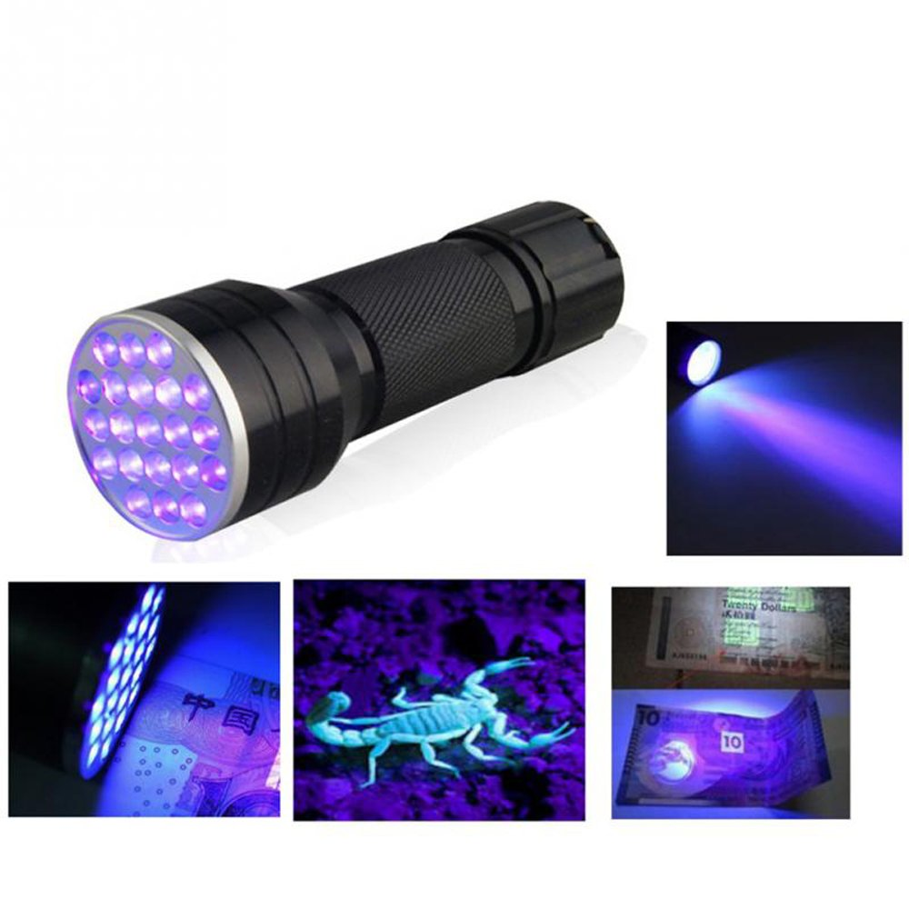 TECHTONGDA Handheld Blacklight Stain & Urine Detector Torch. The Best Ultra Violet Flashlight to Find Stains on Carpet, Rugs or Furniture Material
