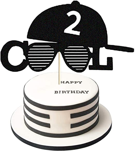 Pleasant Amazon Com Two Cool Cake Toppers Two Cool Second Birthday Cake Personalised Birthday Cards Rectzonderlifede