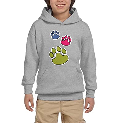Paw Funny Youth Pullover Hoodies Hip Hop Pockets Sweaters