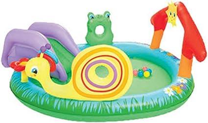 Piscinas para NiñOs Inflables con TobogáN Familia Hinchables Juegos Juguetes Jardin PequeñOs Profundidad 211x155x81cm: Amazon.es: Deportes y aire libre