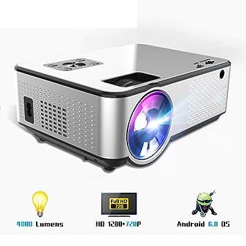 Proyector WiFi, 4000 Lúmenes 1280 * 720P HD LCD Cine En Casa ...