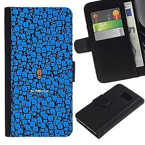 KLONGSHOP // Tirón de la caja Cartera de cuero con ranuras para tarjetas - LINDO SER DIFERENTE - Sony Xperia Z3 Compact //