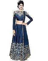 Beautiful Lady Women's Georgette/Silk Lehenga Choli (Blue,Free Size)