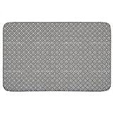 Islamic Black And White Bathroom Rugs: Memory Foam (24 X 36 inch) Incrediby Soft Memory Foam Spa Quality
