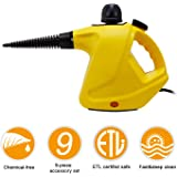 SCYL Color Your Life Handheld Steam Cleaner, Pressurized Steam Cleaner Safety Lock, Powerful Multi-Purpose Steam Cleaner 9 Accessories for Home, Auto, Patio, More