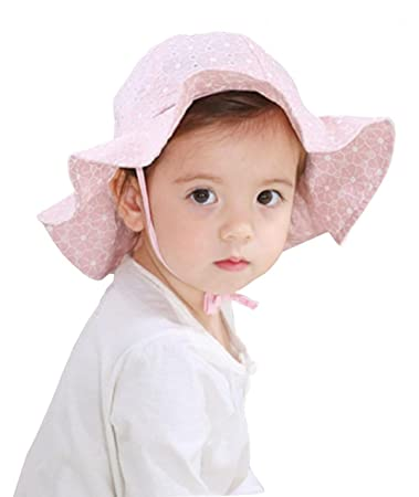 Image Unavailable. Image not available for. Color  WODISON Baby Toddler  Girls Sun Hat Summer Protection Cap with Adjustable Chin Strap Pink f2b9b3bd5e4