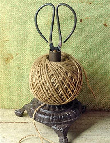 (Victorian Trading Co Cast Iron Twine Holder with Scissors & String)