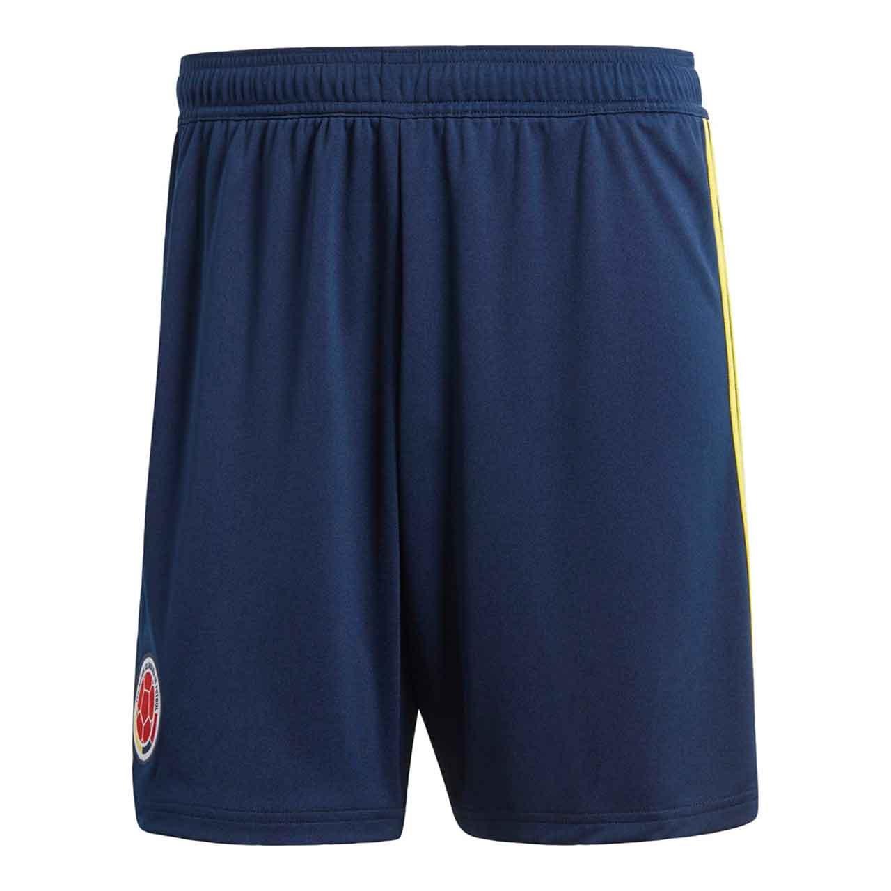 2018-2019 Colombia Home Adidas Football Shorts (Navy) B077JLQHHZカレッジネイビー/ブライトイエロー 日本 J8XO-(日本サイズ9XL相当)