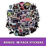 FirstFly 50Pcs/Pack Fornite Stickers, Variety Vinyl Laptop Stickers Car Stickers Motorcycle Bicycle Luggage Decals Computer Stickers Skateboard Stickers Kid Adult