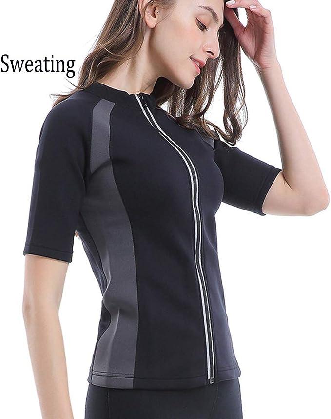 MINIRAH! Neopreno Camiseta Reductora Compresión de Sauna Trajes de sudoración Deportivo Gimnasio Fitness y Ejercicio: Amazon.es: Deportes y aire libre
