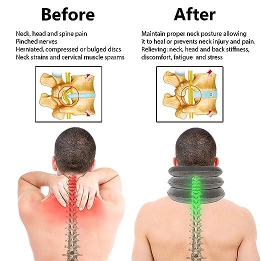 Official Website 2018 New Bone Massage Cervical Traction Neck Hammock Massage Cervical Spine Wrist Shoulder Acupuncture Points Pillow Health Care Volume Large Health Care