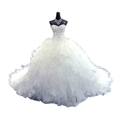 CoCogirls Luxus Wulstig Brautkleid Prinzessin-Kleid Hochzeitskleid ...