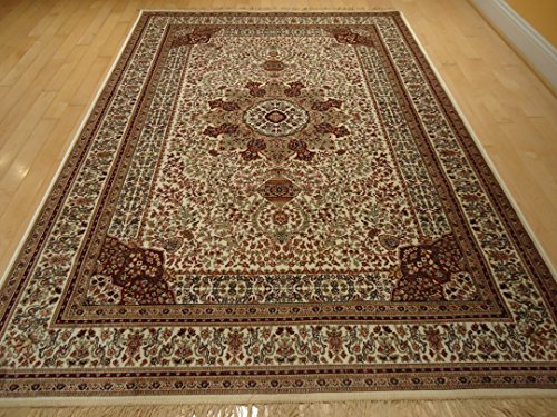 Amazon Com Silk Ivory Rugs Persian Tabriz Rug 7x10 Living
