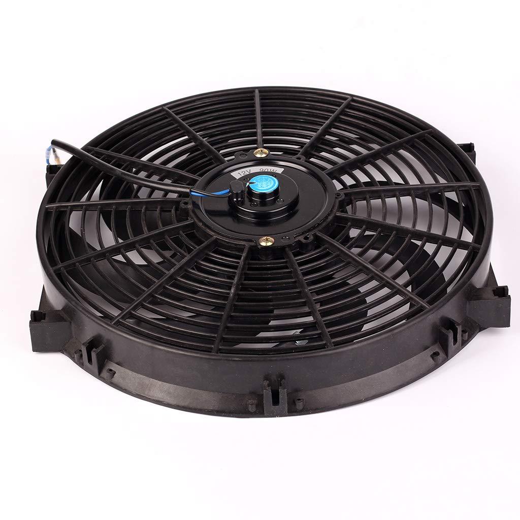 Ventilador de radiador de Coche de 10//12//14 Pulgadas Ventilador de refrigeraci/ón de Motor el/éctrico 12 V Universal Slim Push Pull Xineker
