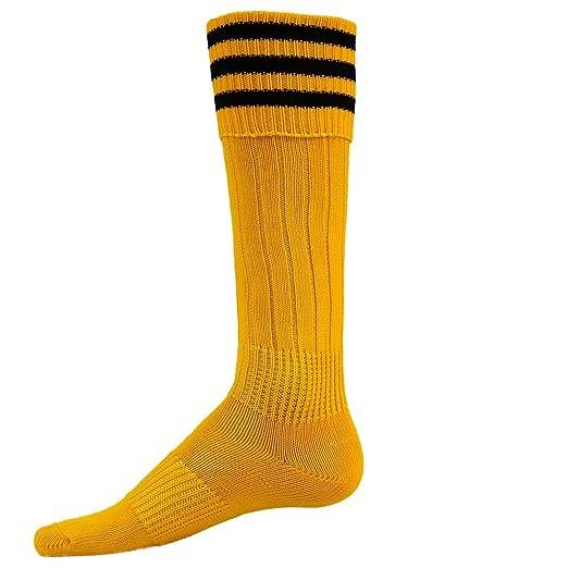 65210f2a0f23 Red Lion Striker Knee High Athletic Soft Socks ( Gold / Black - Large )