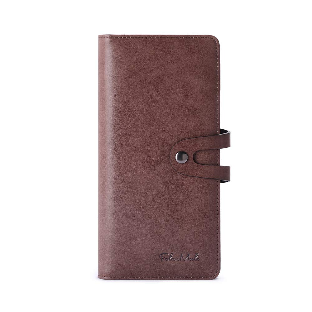 12 Card Slots Long Men Clutch Wallet Bifold Genuine Cowhide Leather High Capacity Cash Phone