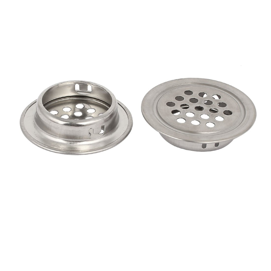 uxcell 28.5mm Bottom Dia Stainless Steel Round Shaped Mesh Hole Air Vent Louver 30pcs by uxcell (Image #2)