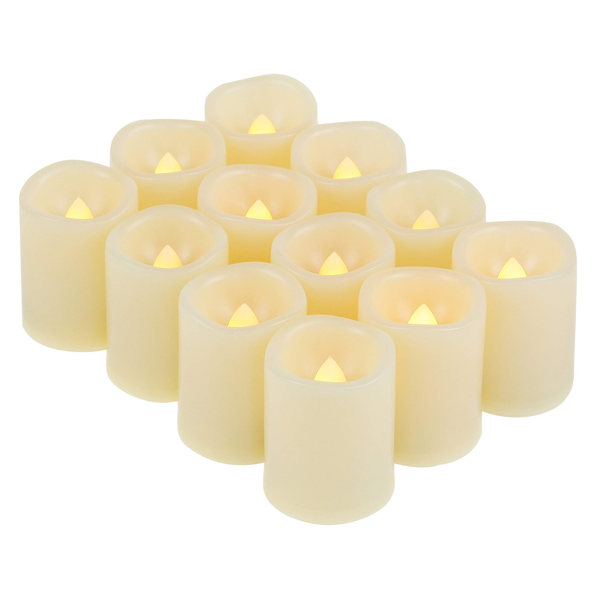 Candle Choice 12 Pieces LED Flameless Battery-operated Votives Candles with Batteries