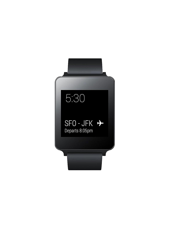 LG G Watch W100 - Smartwatch de 1.65 (4 GB, 512 MB de RAM, USB), Negro