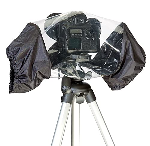 Phot-R Universal Waterproof Rain Resistant Cover with Lens Protector Rainproof for DSLR Cameras