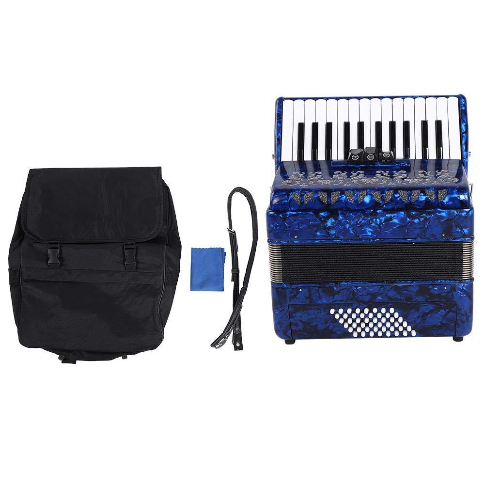 Bnineteenteam 26 Key Durable Bass Accordion Vintage Accordion Musical Instrumental(Blue) by Bnineteenteam