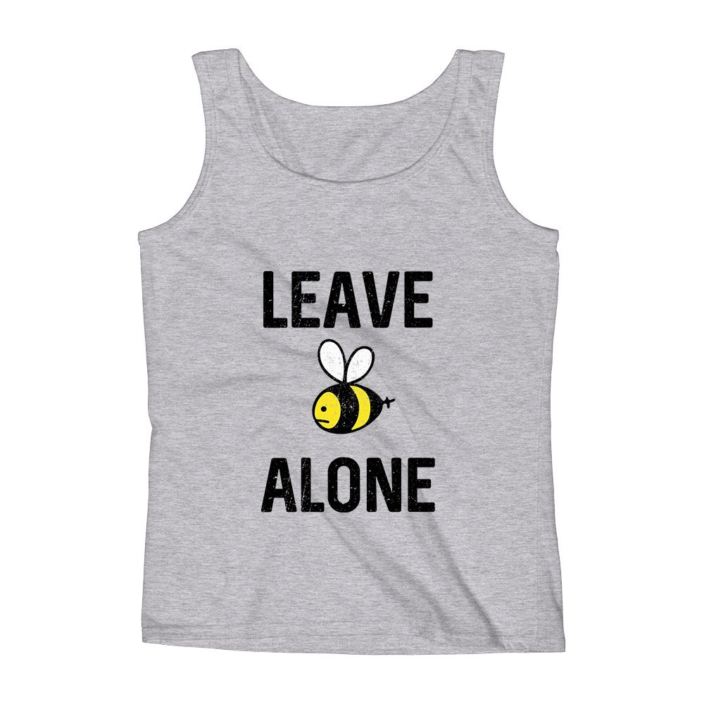 Mad Over Shirts Leave Alone Bee Unisex Premium Tank Top