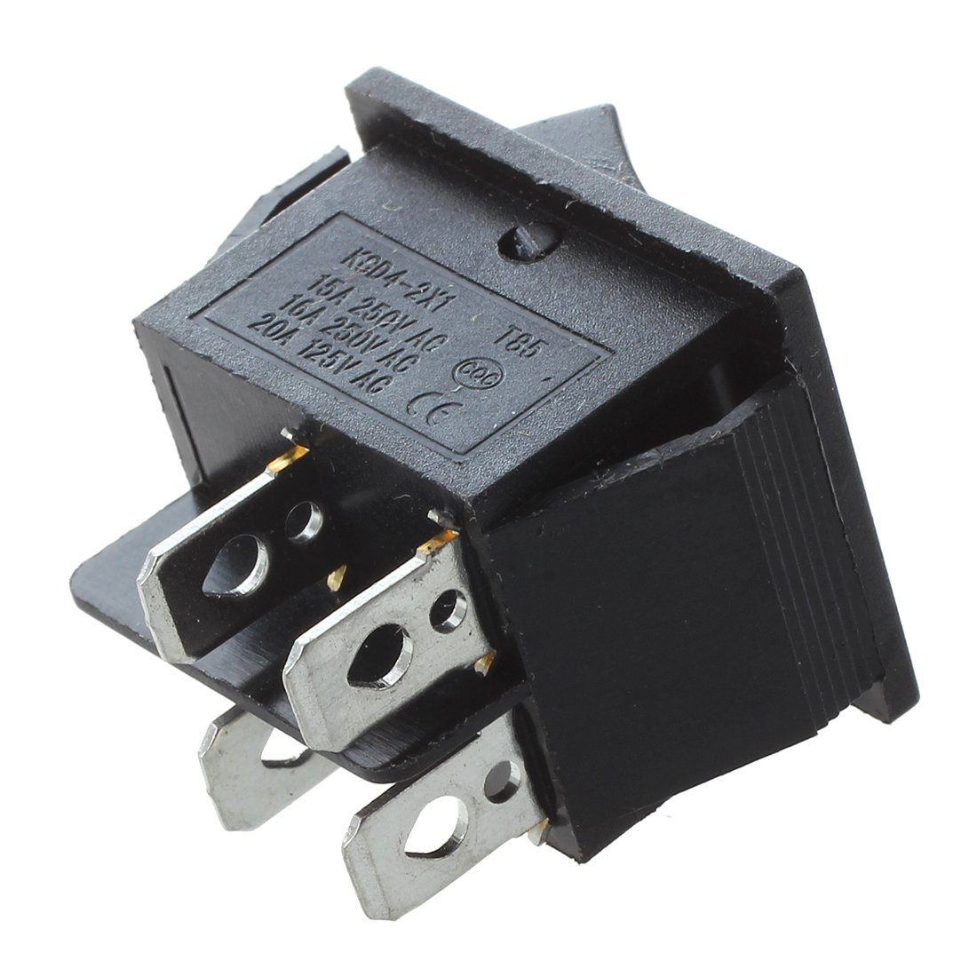 15A 125V 20A BNFUK 2 Pcs Negro 4 Pins DPST On//Off Interruptor Basculante AC 250V