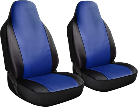 Seat Cover Set Front Integrated Bucket for Car Truck SUV 2pc Gray /& Black