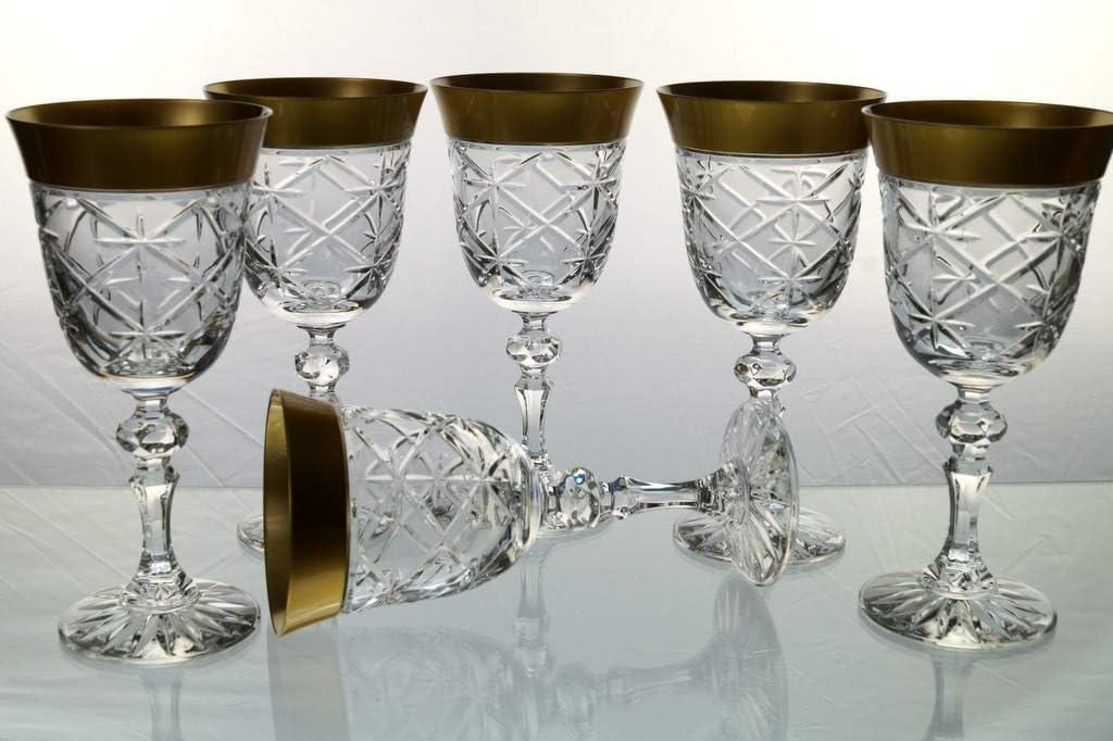 Set 6 farbige Weingl/äser Rotweingl/äser Weissweingl/äser Kristallgl/äser Bleikristall Kristall