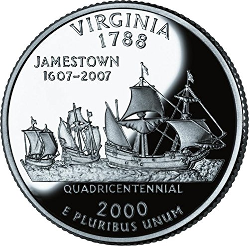 2000 Virginia – P State Quarter Roll