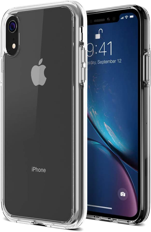 """Trianium iPhone XR Case, Clarium Case Compatible Apple iPhone XR (2018)[6.1"""" ONLY] TPU Cushion Protection and Hybrid Rigid Clear Back Cover [ Work w/Most Screen Protector] - Clear"""