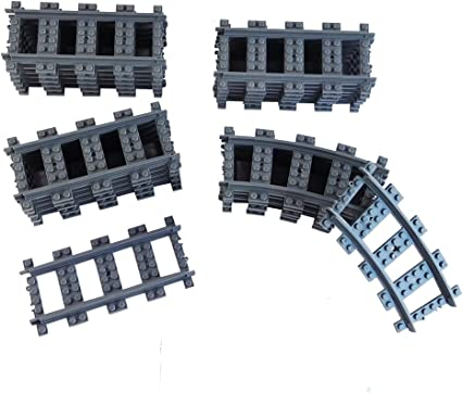 Railroad Train Tracks 18 Straight 6 Curved Tracks Non Powered Rail Compatible