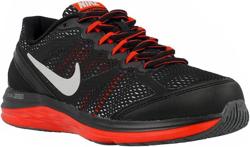 Nike Dual Fusion Run 3 - Zapatillas Deportivas para jóvenes, Color Negro y Rojo: Amazon.es: Zapatos y complementos