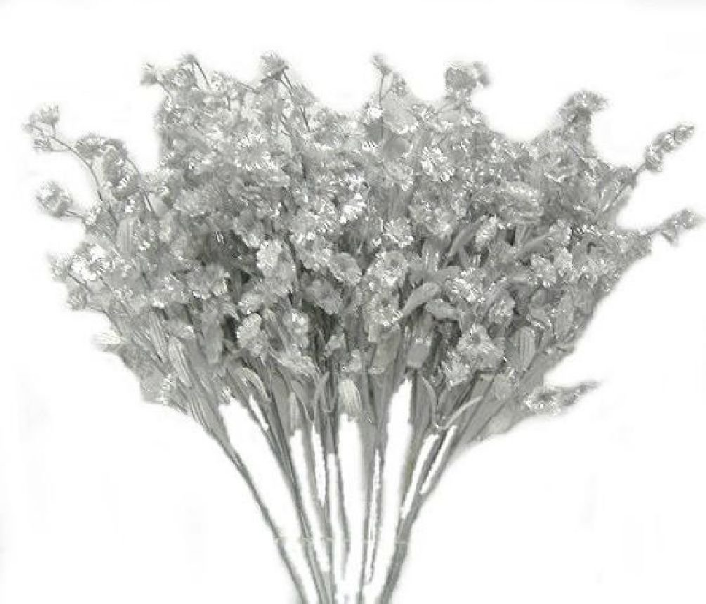 Amazon 12 Silver Babys Breath Spray Silk Wedding Flowers