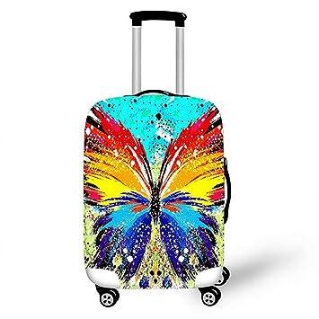 YM& 3D Viajar Moda Estiramiento elástico Funda de Equipaje Mariposa Niño Maleta Protector A Prueba de