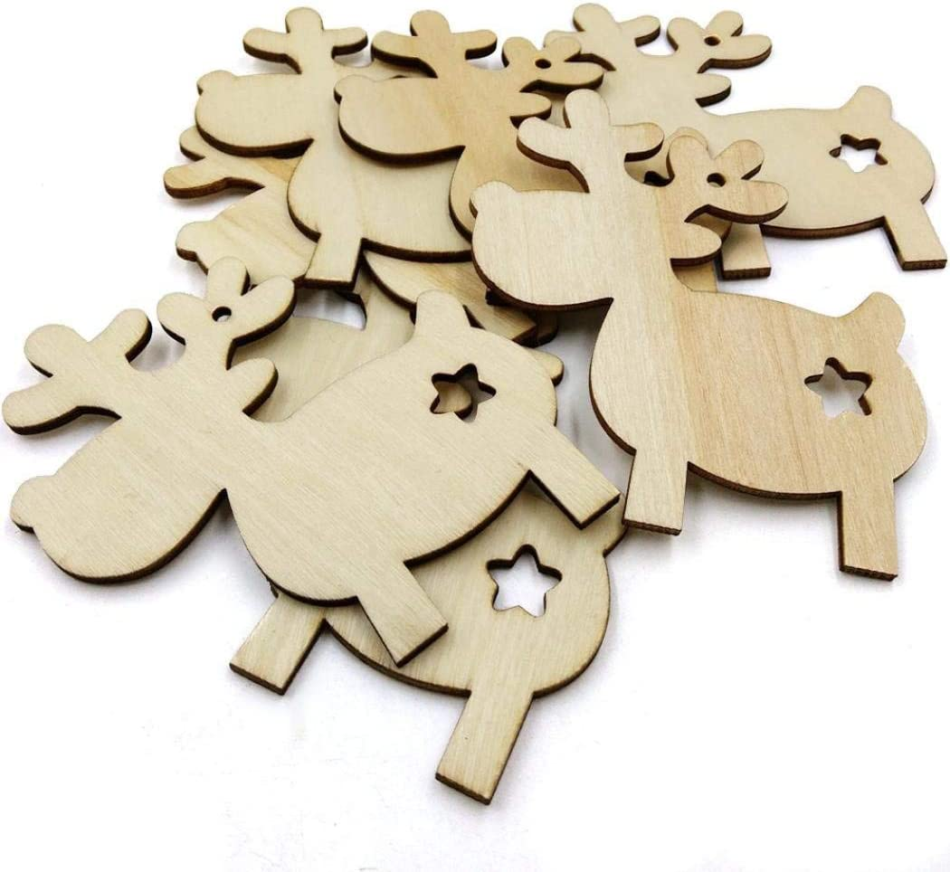 Wooden MDF Christmas Blank Bell Shape Bunting Craft Embellishments Decorations