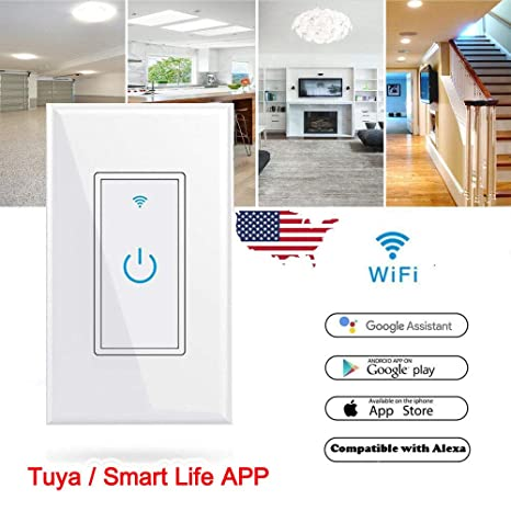 JIAN YA NA Smart WiFi Light Switch Remote Alexa Google Home Voice
