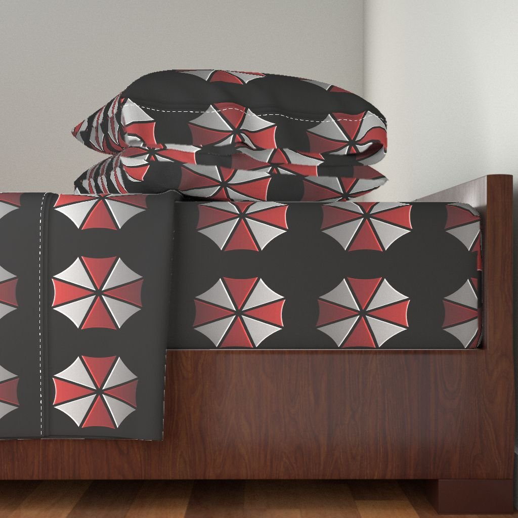 Roostery Geek 4pc Sheet Set Umbrella Corporation by Princess Sewnsew King Sheet Set made with