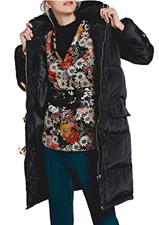 Gocgt Men Casual Mid-Long Hooded Coat Thicken Down Jacket