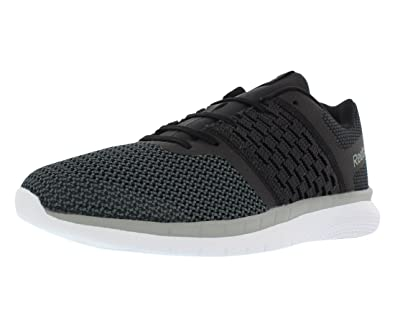 8590a3e6f70376 Reebok Men s Print Prime Runner Sneaker Black Gravel tin Grey White 8 M