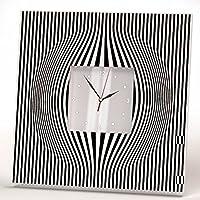 Minimalista Abstracto Líneas Reloj De Pared Enmarcado Espejo Arte Decoración Hogar Regalo Diseño
