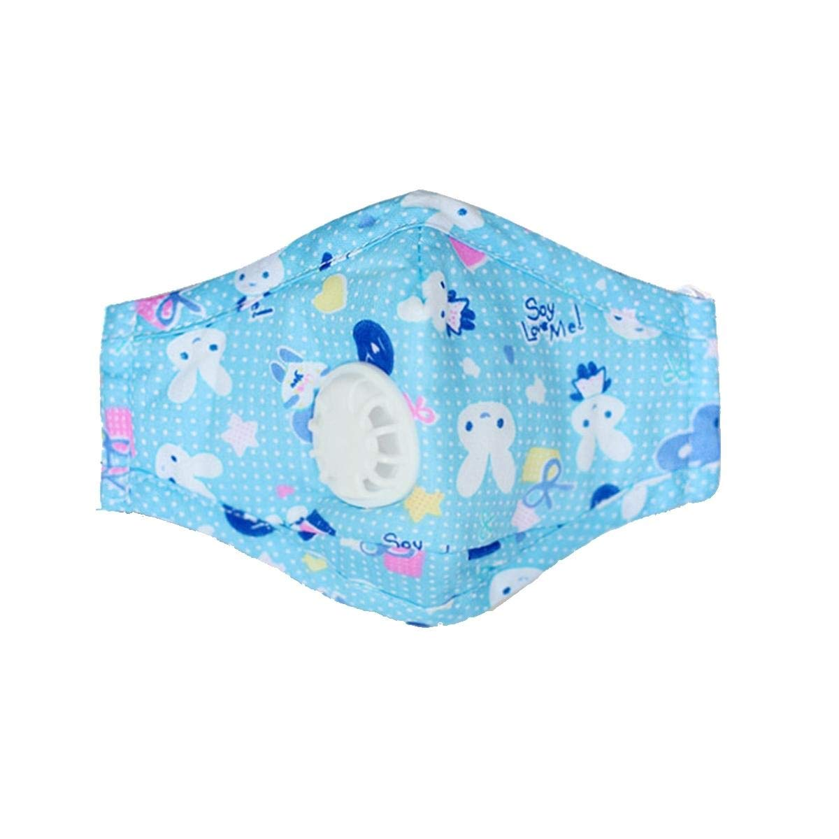 DASEXY PM2.5 Mascarilla facial de algod/ón for ni/ños Respirador anti bruma infantil a prueba de polvo con 2 filtros Perfecto para todos Color : 1blue