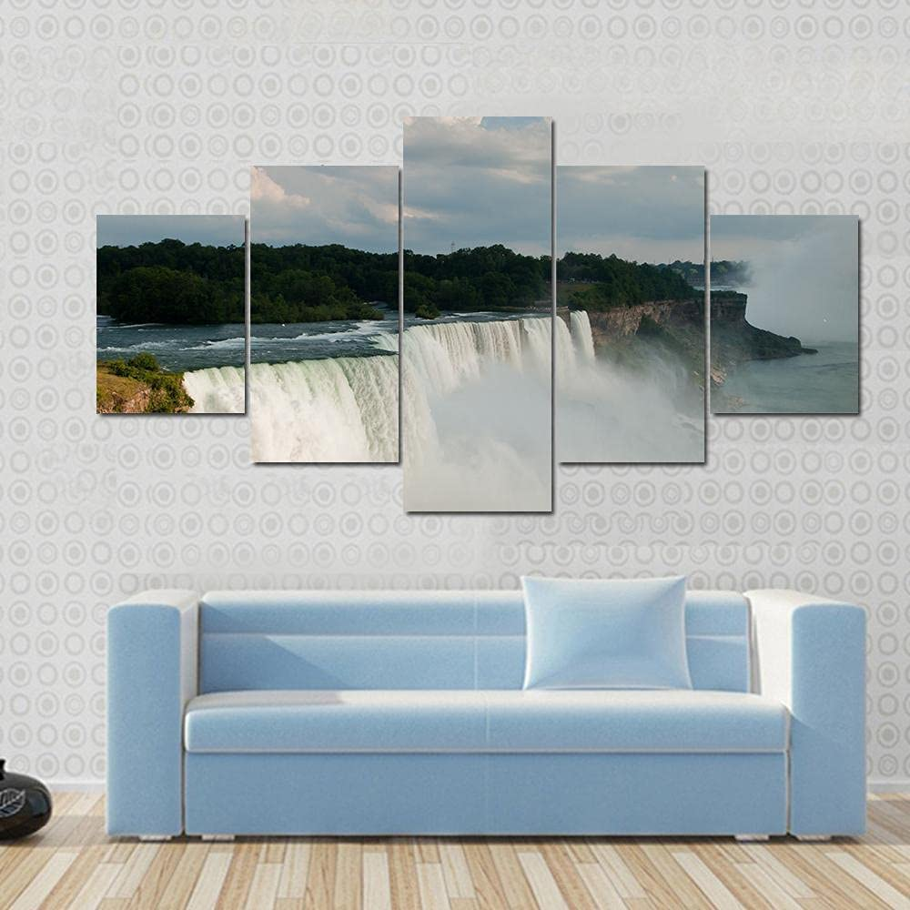 JJJKK 5 Pieces Canvas Wall Art HD Print Painting Modern Contemporary Picture Home Decor HD Artwork 5 Panels Niagara Falls View from The Us Side