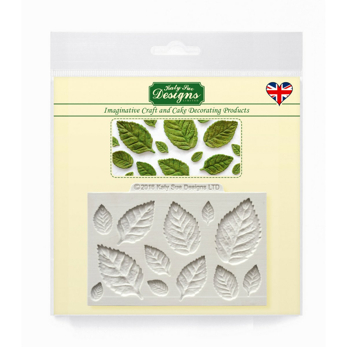 Rose Leaves Silicone Mould for Cake Decorating, Crafts, Cupcakes, Sugarcraft, Candies, Card Making and Clay, Food Safe Approved, Made in the UK