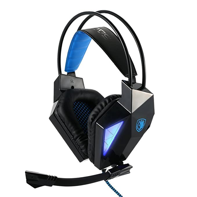 4 opinioni per Sades® SA710 7.1 Cuffia stereo professionale per videogiochi, con presa USB,