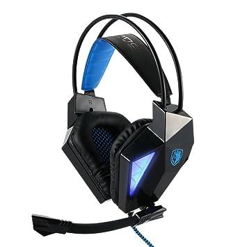 SADES SA710 7.1 Stereo Surround Sound Pro USB PC Gaming Auriculares del auricular del juego del