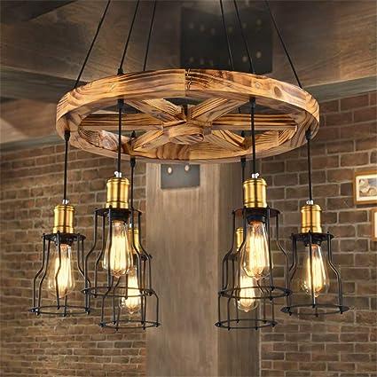 Lámparas De Araña Lámparas De Techo Rústico Vintage ...