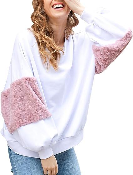 Sudaderas Mujer Sudadera Estampadas Camisetas Manga Larga Sudaderas Oversize sin Capucha Deportivas Chica Jerseys Pullover Cuello Redondo Top Juveniles Bonitas Camisas Blusas Dama Vintage