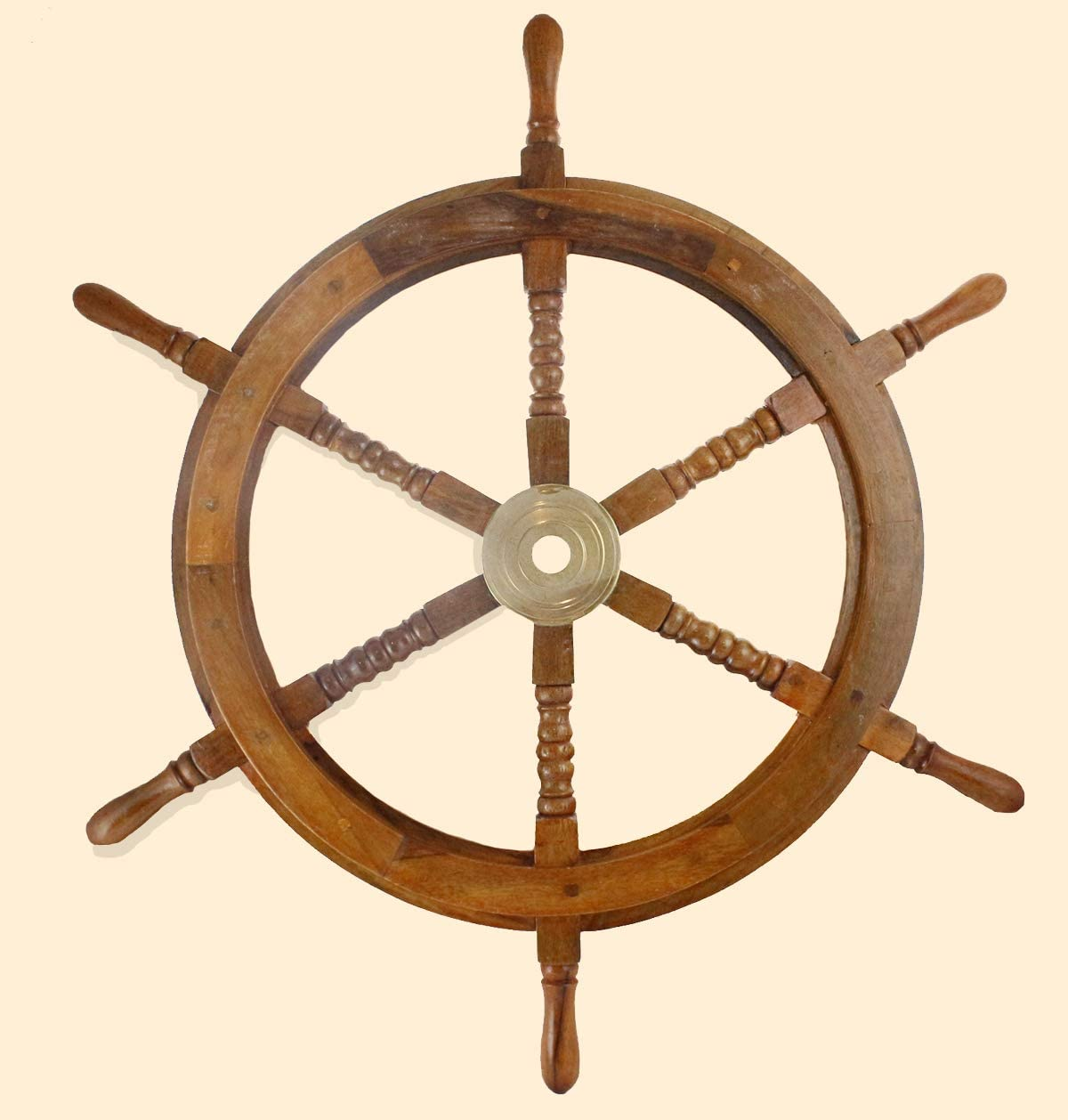 pirate // boat // nautical // marine Wooden Ship Wheel 15 Inch