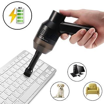 Limpiador de Teclado, Inalámbrico Potente y Portátil Mini Limpiador de Vacío Hoover Para PC Teclado
